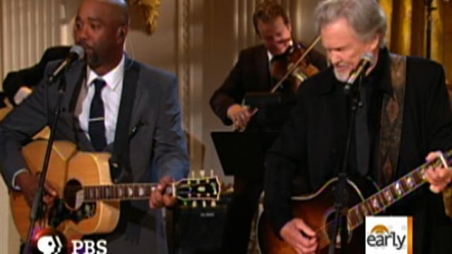 Country music stars perform at White House