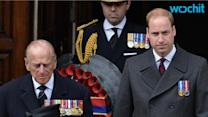 Prince William and Prince Harry Attend Separate Military Ceremonies Before Kate Middleton Gives Birth