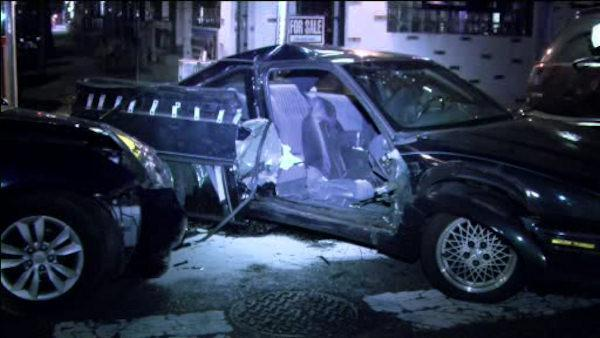 Woman injured in North Philadelphia crash