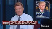 Trump: 40% chance my VP will be a GOP rival