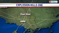 One dies in explosion near Pearl River