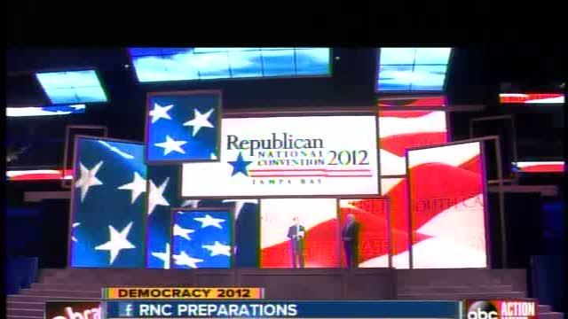 GOP shows off stage for upcoming RNC