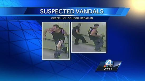 Police seek men in high school burglary