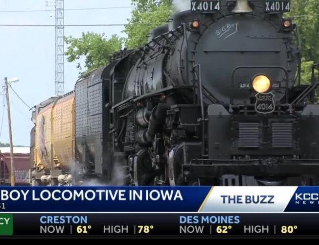 Big Boy locomotive to steam into Des Moines