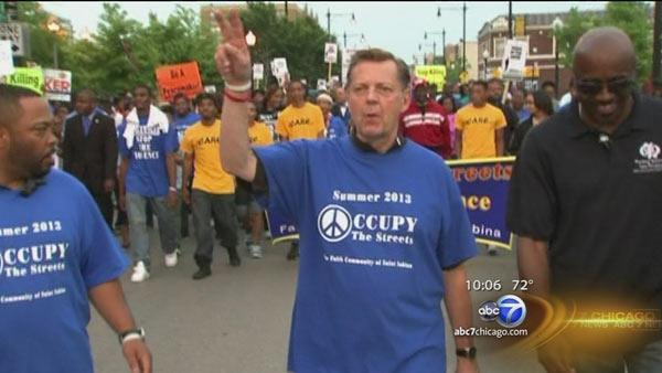 Hundreds join St. Sabina's march against Chicago violence
