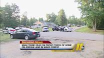 Man found dead on front porch of home in Wake Forest