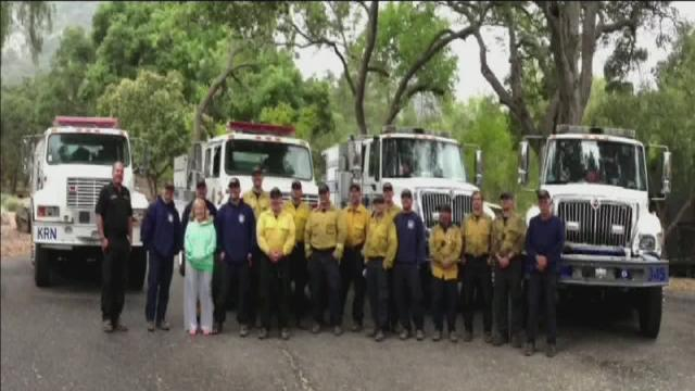Ellen thanks Kern Firefighters