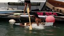 Plywood regatta racers hit the high seas