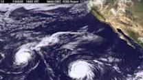 Three Tropical Cyclones Swirl in Pacific Ocean