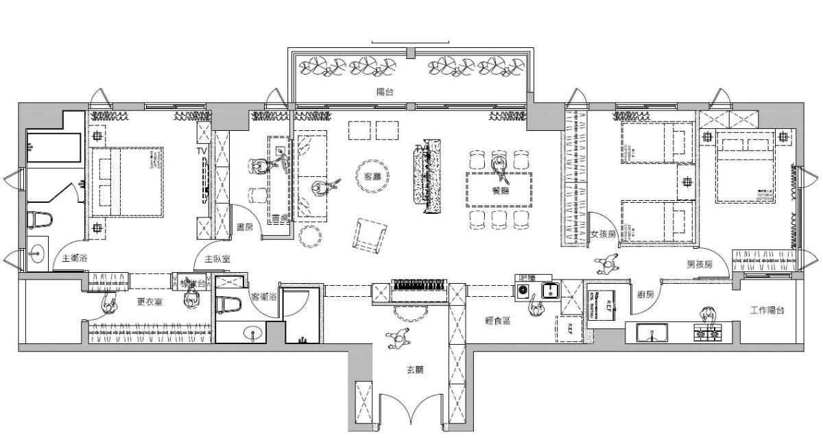 平面圖提供_蒔築設計有限公司。