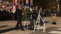 Obama lays wreath at Veterans Day ceremony