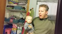 Father and son demonstrate hilarious performance