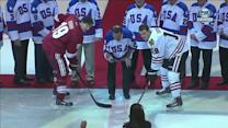Mike Eruzione drops ceremonial puck