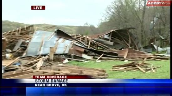 Tour the damage left behind in Butler, Okla.