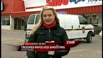 Ashlie Hardway reports on Crossroads Plaza police shooting