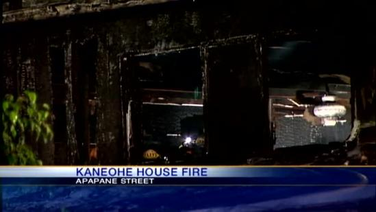 Fire heavily damages Kaneohe home