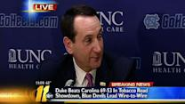 Coach K press conference on Duke win over Heels