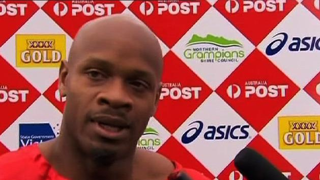 Asafa powell stalls in Gift