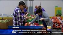 Kaplan College employees give back during serve-a-thon