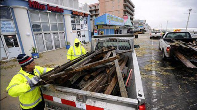 Ocean City a 'ghost town' after Sandy surges ashore