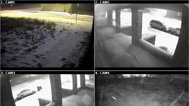 Graffiti taggers surveillance video