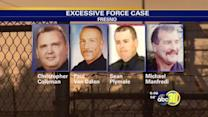 Officer speaks to jurors in excessive force case