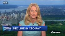 Decline in CEO pay