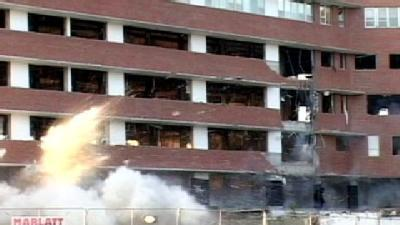 Crews Implode Atchison's Old Hospital