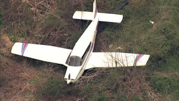 Small plane skids off runway in Burlington County, N.J.