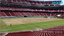 Protest Against Smoke Coming From Levi's Stadium