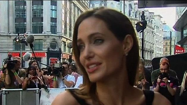 Angelina Jolie walks red carpet