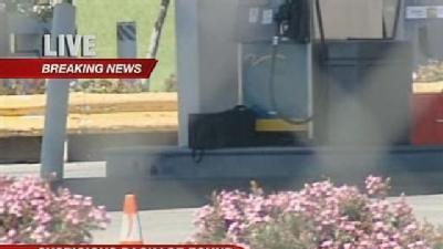 Suspicious Package Found Near Gas Station Pumps