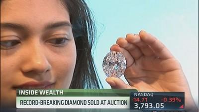 Sotheby's eye-popping 118-carat diamond sets record price...