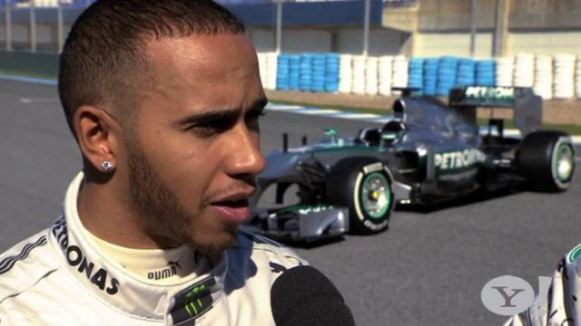 Lewis and Nico unveil 2013 Mercedes W04 F1 car