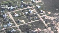 Aerial View of Tornado Damage in and Around Pilger