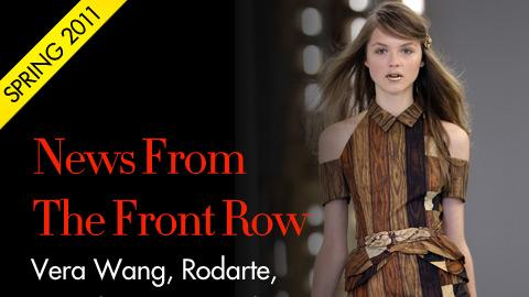 News From the Front Row: Vera Wang, Rodarte, Marc by Marc Jacobs & Narciso Rodriguez