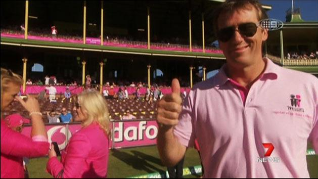 SCG bathed in pink