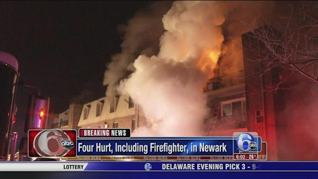 2 remain critical after apartment fire in Newark, Delaware