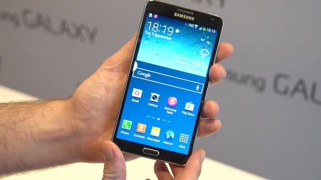 First Look: The leather-look Samsung Galaxy Note 3 multitasking marvel