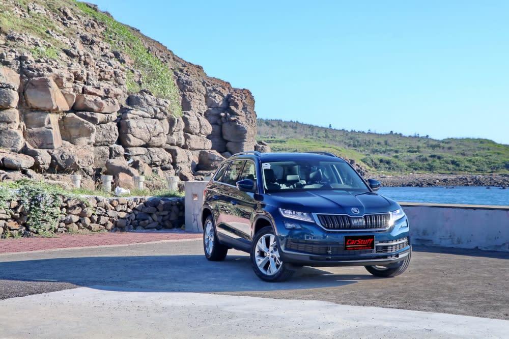 Kodiaq在台僅導入七人座車型,並且先行引進1.4L TSI/2.0L TSI兩款汽油渦輪動力(柴油版稍晚問世),試駕車型則為2.0L TSI尊榮版