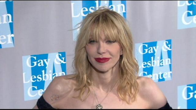 Courtney Love in Court for Tweet