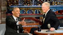 President Obama Answers A Dumb Guy Question - David Letterman