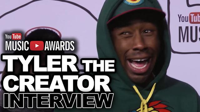 Tyler the Creator Talks Lady Gaga, Miley Cyrus Bangerz Album at YouTube Music Awards 2013