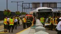 Bus crash at Chicago's O'Hare injures at least 14