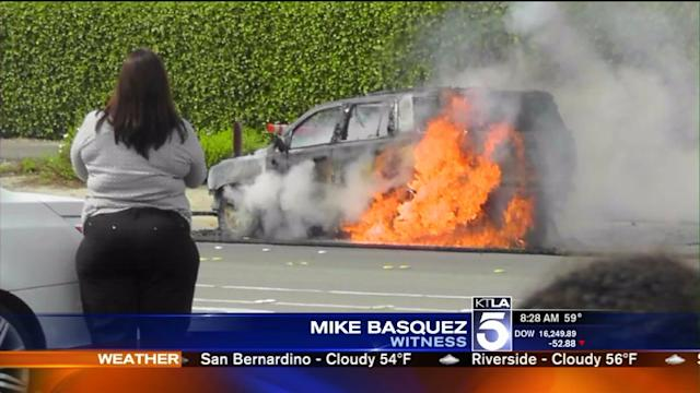 SUV Erupts in Flames During Test Drive in Anaheim