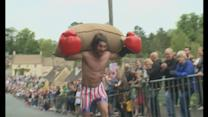 English village hosts quirky wool race