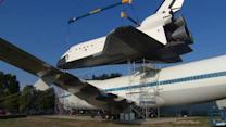 NASA places shuttle replica in Houston, Texas
