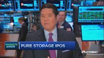 Pure Storage shares slip after IPO