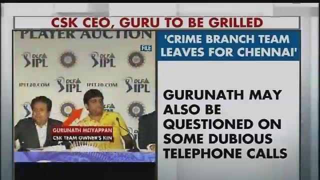 IPL spot-fixing: Mumbai Police reaches Chennai to quiz BCCI chief's son-in-law