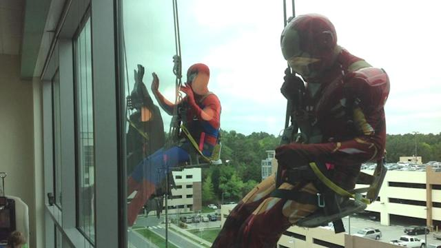 Patients at WakeMed Children's Hospital get a super suprise